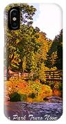Beautiful Victoria Park Truro Nova Scotia IPhone Case