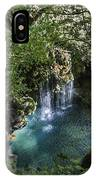 Beautiful Waterfall In The Mountains In Navarra IPhone Case