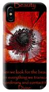 Beauty Red Anenome IPhone Case