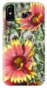 Bee And Flower IPhone Case