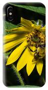 Bee In A Wild Flower IPhone Case