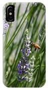 Bee In Lavender IPhone Case