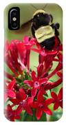 Bee On Flower Cluster IPhone Case