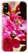Bee On Pink Blossoms 031015aa IPhone Case
