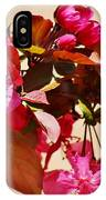 Bee On Pink Blossoms 031015ac IPhone Case