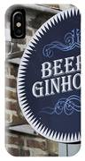 Beer And Ginhouse IPhone Case