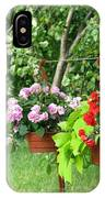 Begonias On Line IPhone Case