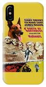 Belgian Malinois Art Canvas Print - North By Northwest Movie Poster IPhone Case