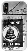 Bell Telephone Sign, C1899 IPhone Case