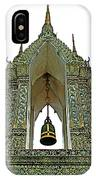 Bell Tower In Wat Po In Bangkok-thailand IPhone Case