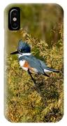 Belted Kingfisher Female IPhone Case