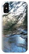 Belvidere Junction Stream Vermont IPhone Case