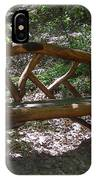 Bench Made Of Tree Branches IPhone Case