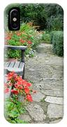 Bench In Borde Hill Gardens IPhone Case