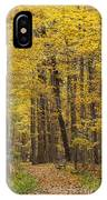 Bench In Fall Color IPhone Case