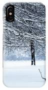 Bench In Snow IPhone Case
