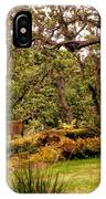 Bench In The Garden IPhone Case