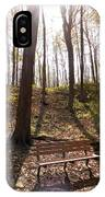 Bench In The Woods IPhone Case