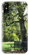 Bench Under The Magnolia Tree IPhone Case