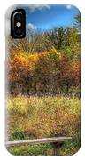 Benched In Autumn IPhone Case