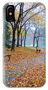 Benches Of Fall IPhone Case