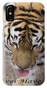 Bengal Tiger Greeting Card IPhone Case
