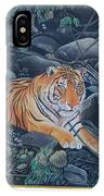 Bengal Tiger Wild Life Realistic Painting Water Color Handmade Artwork India Uk IPhone Case