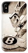 Bentley Hood Ornament - Emblem IPhone Case