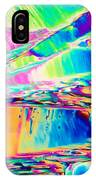 Benzoic Acid Crystals In Polarized Light IPhone Case