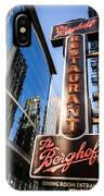 Berghoff Restaurant Sign In Downtown Chicago IPhone Case