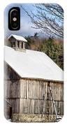 Berkshire Barn In Winter IPhone Case