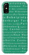 Berlin In Words Algae IPhone Case