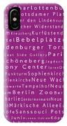 Berlin In Words Pink IPhone Case