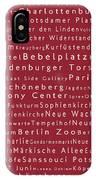 Berlin In Words Red IPhone Case