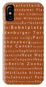 Berlin In Words Toffee IPhone Case