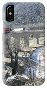 Bernina Express In Winter IPhone Case