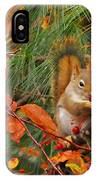Berry Loving Squirrel IPhone Case