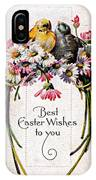 Best Easter Wishes To You 1909 Vintage Postcard IPhone Case