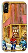 Best Sellers Original Montreal Paintings For Sale Hockey At Beauty's By Carole Spandau IPhone Case