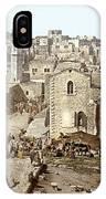 Bethlehem Manger Square 1900 IPhone Case