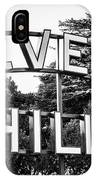 Beverly Hills Sign In Black And White IPhone Case