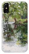 Bevier Park In The Rain IPhone Case