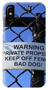 Beware Sign IPhone Case