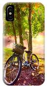 Bicycle Under The Tree IPhone Case