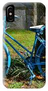 Bicycle With Basket Of Flowers IPhone Case
