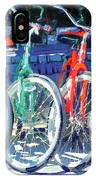 Bicycles In A Row San Diego IPhone Case