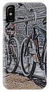 Bicycles On A Rail IPhone Case