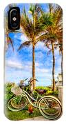 Bicycles Under The Palms IPhone Case