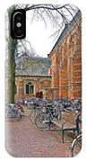 Bicycling To Church IPhone Case