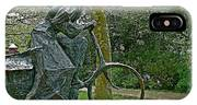 Bicyclist Sculpture In The Park In Leeuwarden-netherlands IPhone Case